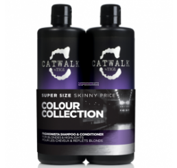 TIGI Kit Catwalk Fashionista Violet Shampoo e Conditioner 750 ml