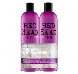 TIGI Dumb Blonde Shampoo 750ml + Balsamo 750ml