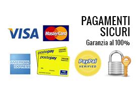 pagamenti sicuri con visa mastercard paypal garanzia