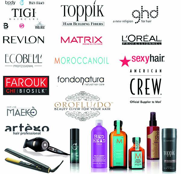 loghi brand prodotti per capelli