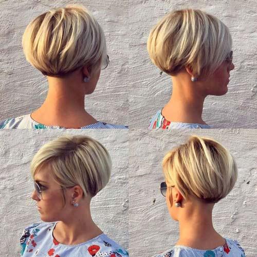 Taglio capelli lisci corto